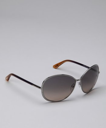 Silver & Gray Iris Sunglasses
