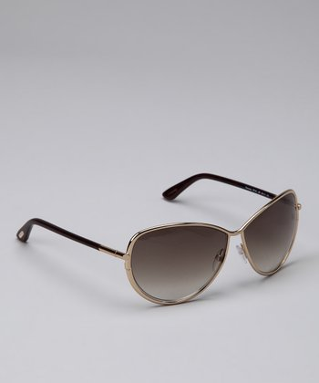Gold & Brown Iris Sunglasses