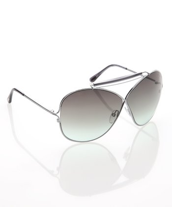 Silver Gray & Green Catherine Sunglasses