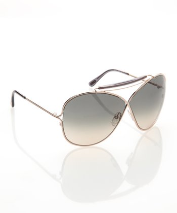 Rose Gold & Smoke Catherine Sunglasses