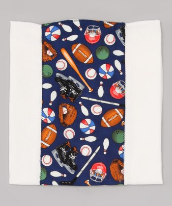 Navy Sports Burp Cloth