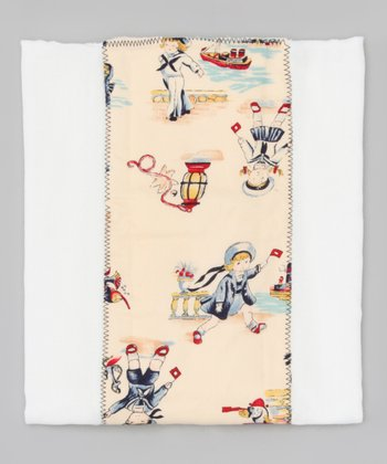 Cream Vintage Sailors Burp Cloth