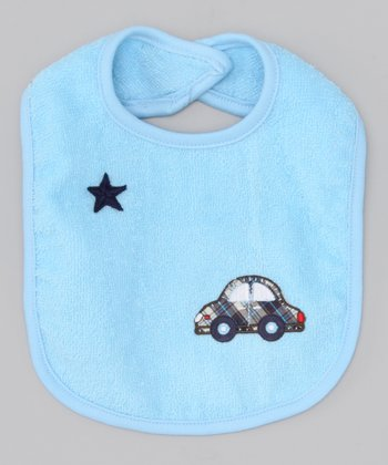 Too Sweet Blue Plaid Car Bib