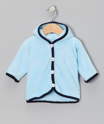 Too Sweet Blue Button Minky Jacket