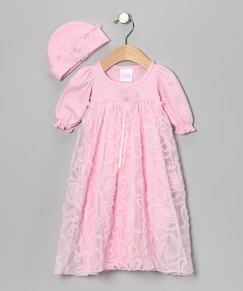Rose Lace Gown & Beanie - Infant