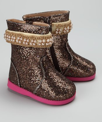 Brown Cinnamon & Sugar Squeaker Boot