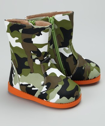 Green Cute 'n' Camo Squeaker Boot