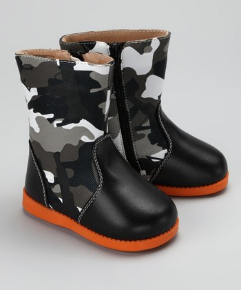 Black Lil' Soldier Squeaker Boot