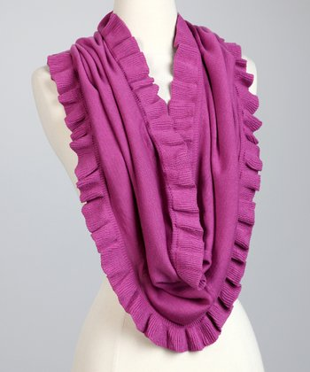 Iris Ruffle Eternity Loop Scarf