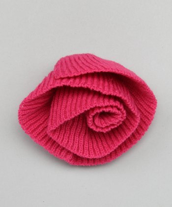 Hot Pink Fleurette Pin