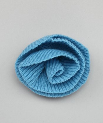 Sky Blue Fleurette Pin