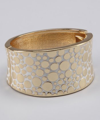 Top It Off Gold Polka Dot Bangle