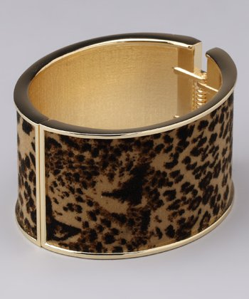 Gold & Brown Leopard Cuff