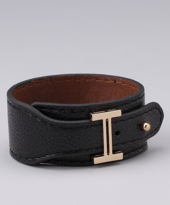 Black Leatherette Bracelet