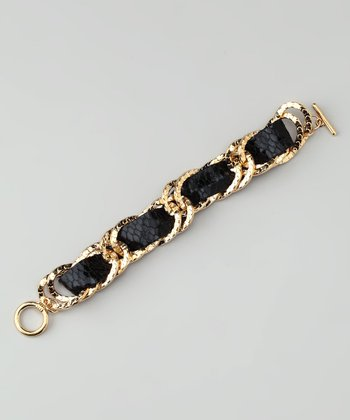 Gold & Black Lexie Bracelet