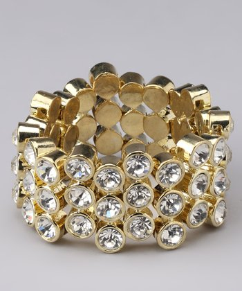 Gold Sparkle Stretch Bracelet