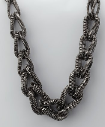 Hematite Chunky Link Necklace