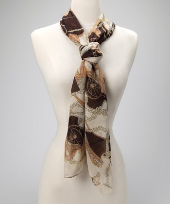 Brown Palomino Scarf