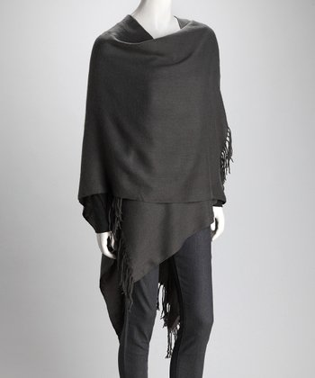 Top It Off Gray Carmen Cape