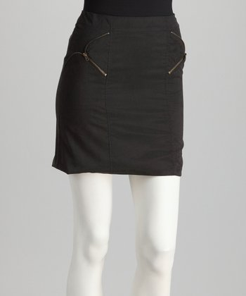 Topin Black Zip Pocket Skirt