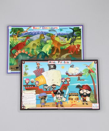 Dinosaurs & Pirates Activity Place Mats