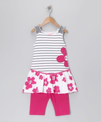 Pink & Black Poppy Tunic & Shorts - Toddler & Girls