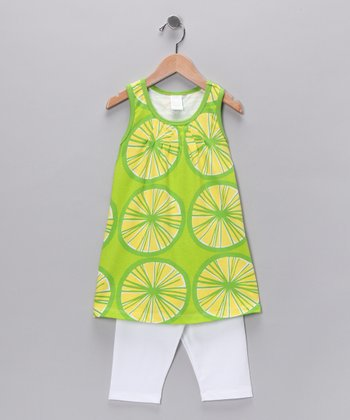 Lime Racerback Tunic & Shorts - Toddler & Girls