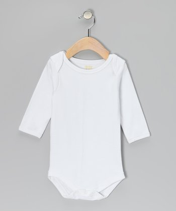 White Long-Sleeve Bodysuit