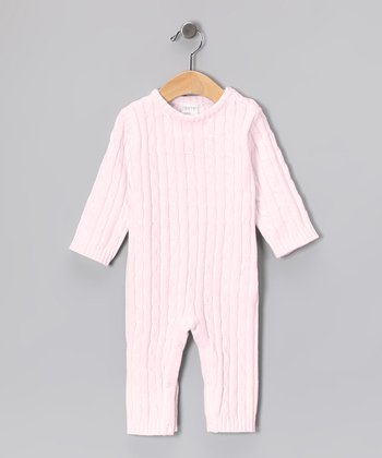 Pink Cable-Knit Playsuit