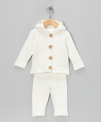 Ivory Knit Cardigan & Pants - Infant