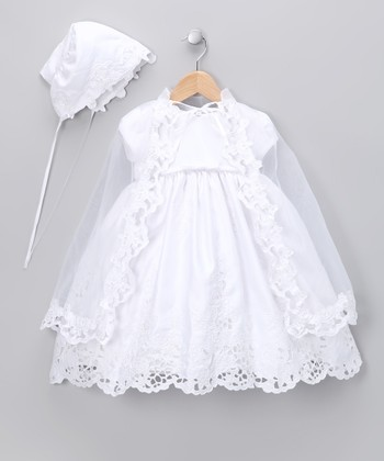 White Christening Dress Set - Infant