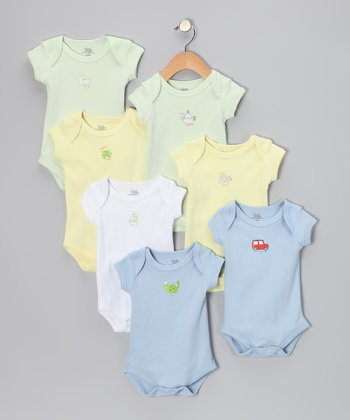 Blue & Green Days of the Week Bodysuit Set