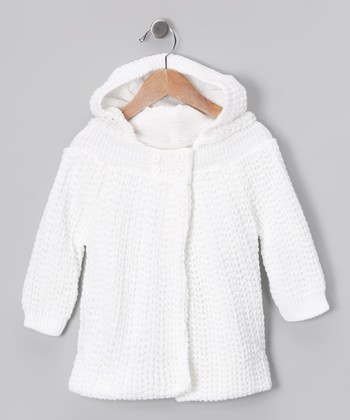 White Knit Cardigan - Infant