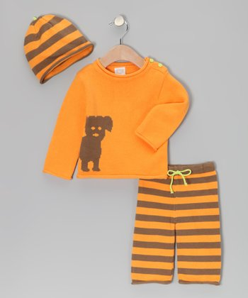 Orange Dog Sweater Set