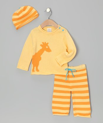 Yellow Giraffe Sweater Set