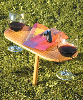 Outdoor Bamboo Wine Table