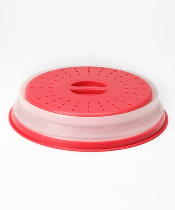 Red Collapsible Microwave Cover