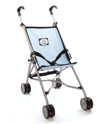 Blue Umbrella Doll Stroller