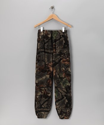 Camouflage Fleece Sweatpants - Boys