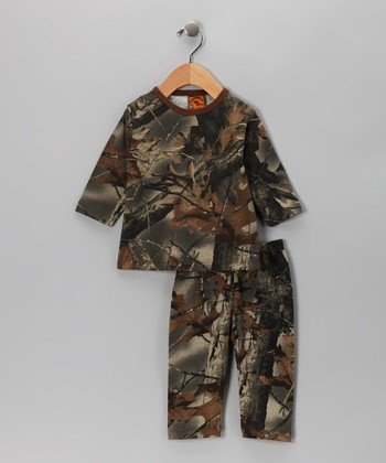 Green Camouflage Tee & Pants - Infant, Toddler & Kids