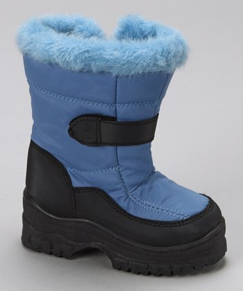 Light Blue Furry Boot