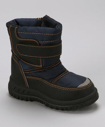 Navy Stitch Boot