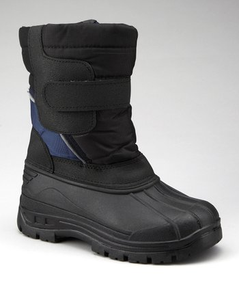 Navy & Black Strap Boot