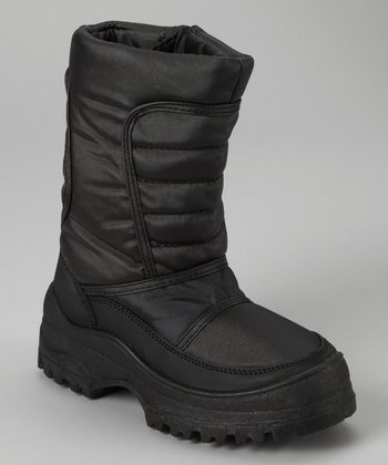Black Quilted Boot