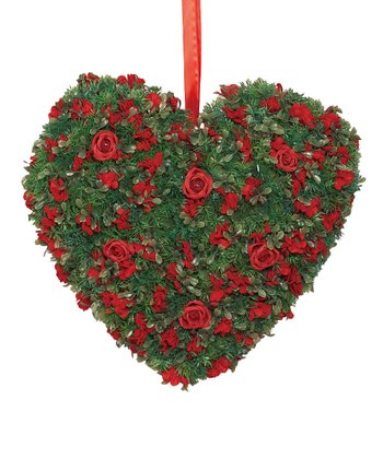 Hedge Rose Hanging Heart Wreath