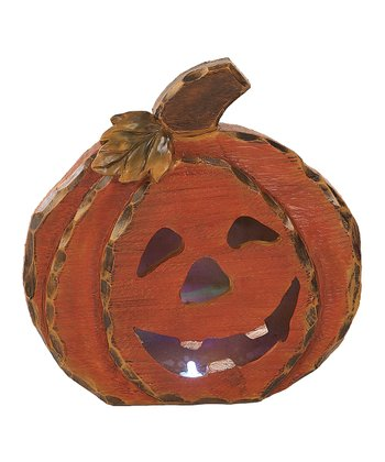 Round LED Pumpkin Figurine