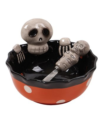 Skeleton Bowl & Spreader - Set of Two