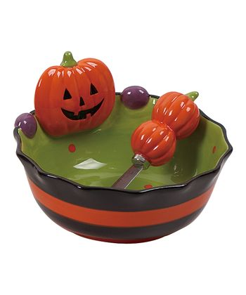 Pumpkin Bowl & Spreader - Set of Two