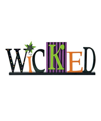 Black & Orange 'Wicked' Sign
