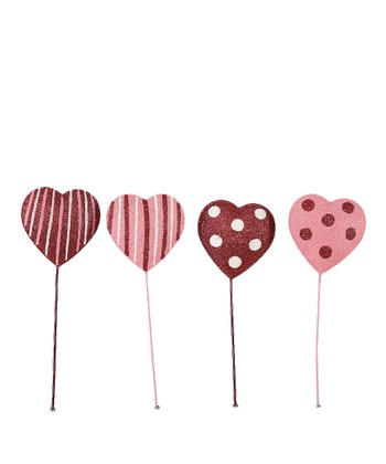 Valentine Heart Pick Set